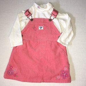 Oshkosh B'gosh Baby Jumper set, Pink Floral, 18M